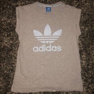 Adidas NWOT. NEVER WORN. shirt. Gray and baby blue
